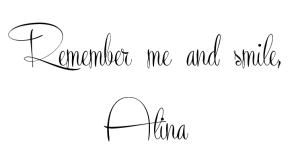 remember me&smile, Alina